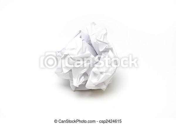 Crumpled Paper - csp2424615