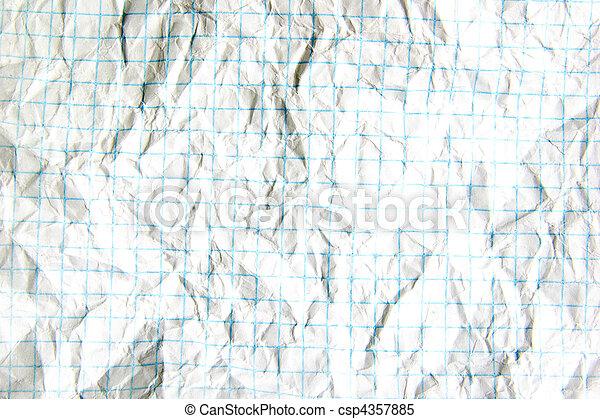 crumpled paper - csp4357885