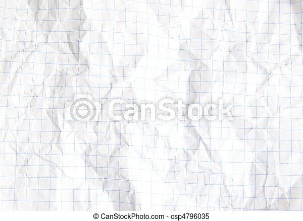 crumpled paper  - csp4796035