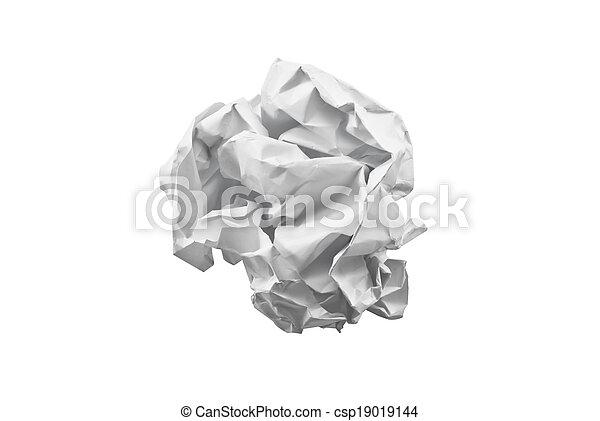 crumpled paper  - csp19019144