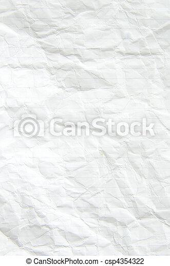 crumpled paper - csp4354322