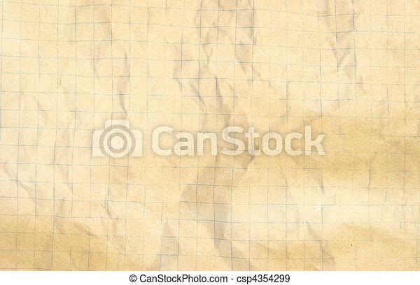 crumpled paper - csp4354299