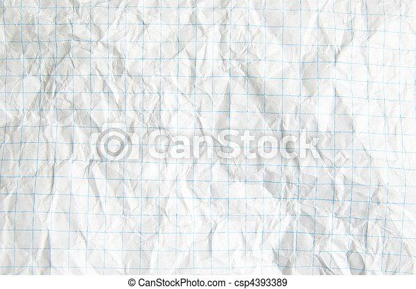crumpled paper - csp4393389