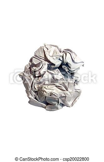 crumpled paper - csp20022800