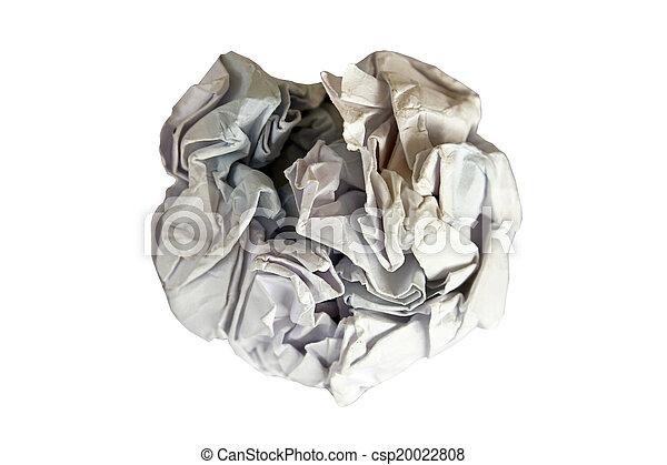 crumpled paper - csp20022808