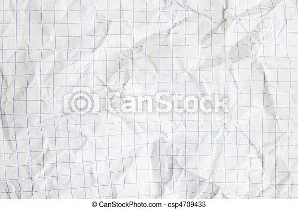 crumpled paper - csp4709433
