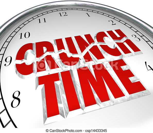 Crunch Time Clock Hurry Rush Deadline Final Moment - csp14433345