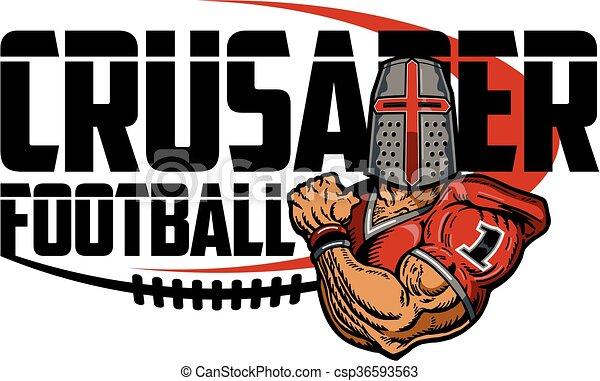 Muscular crusader football player design for school ...