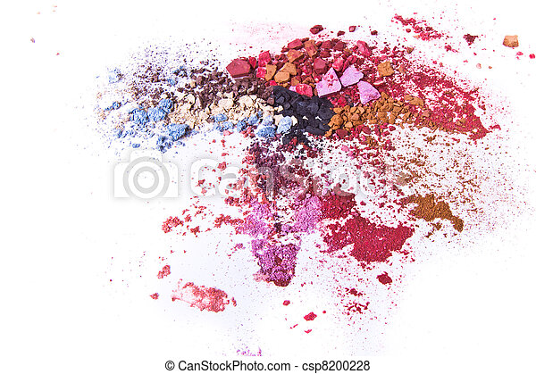 crushed eyeshadow on white background pictures search photographs