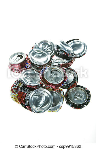 Crushed Pop Cans - csp9915362