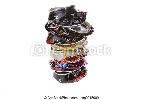 Crushed Pop Cans - csp9915989