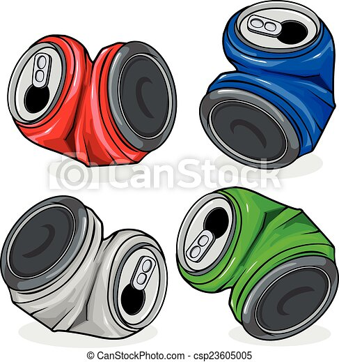 crushed can clipart. crushed tin cans - csp23605005 can clipart c