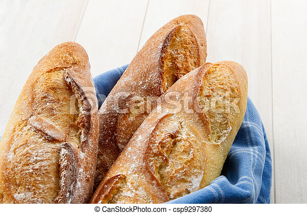 Crusty Artisan French Baguette Bread - csp9297380