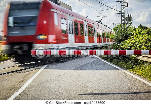 cruzamento, ferrovia, trem - csp10438690