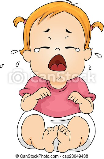 crying baby illustration featuring a baby crying out loud rh canstockphoto com child crying clipart crying baby pictures clip art
