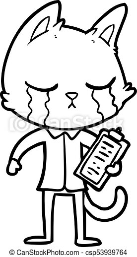 crying cartoon business cat clip art vector search drawings and rh canstockphoto com clipart business gratuit business clipart free