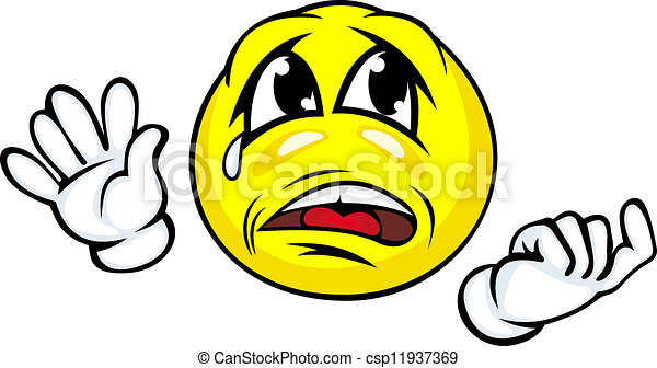 crying face with hands in cartoon style clip art vector search rh canstockphoto com crying cartoon face girl cartoon image crying face