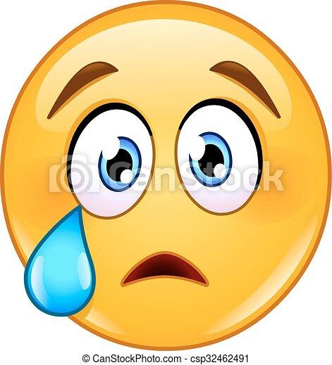 crying face emoticon - csp32462491