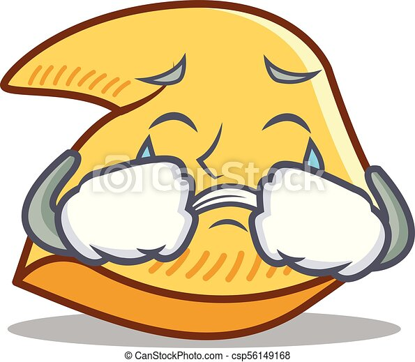 crying fortune cookie mascot cartoon vector illustration clip art rh canstockphoto com chinese fortune cookie clipart