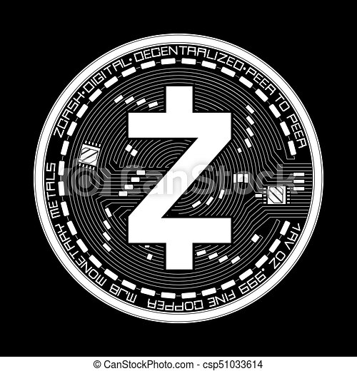 Crypto Currency Zcash Black And White Symbol
