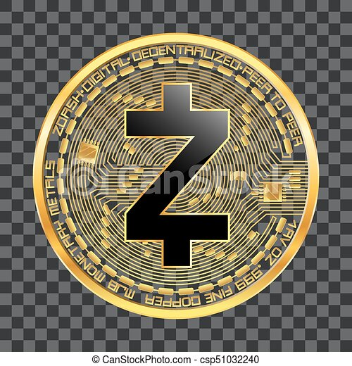 Crypto Currency Zcash Golden Symbol