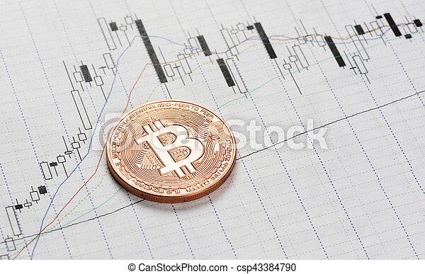 Criptomoneda. Moneda Bitcoin - csp43384790