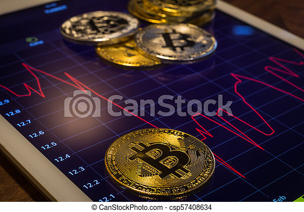 Where can you see the graphs for cryptocurrency