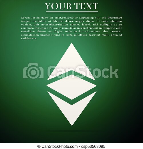 Cryptocurrency coin Ethereum classic ETC icon isolated on green background   Physical bitcoin  Digital  Altcoin symbol  Blockchain based secure
