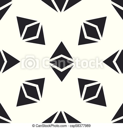Cryptocurrency coin Ethereum classic ETC icon seamless pattern on white  background  Physical bit coin  Digital currency  Altcoin symbol  Blockchain