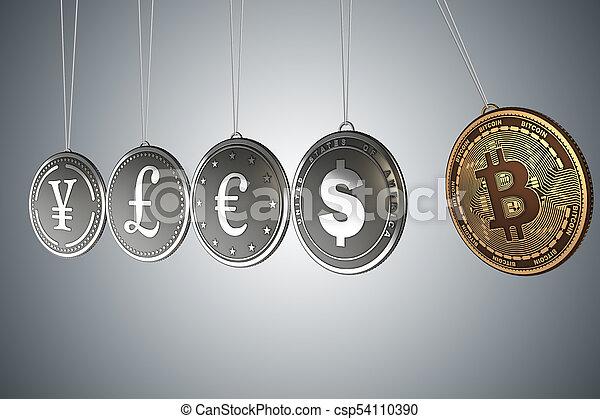 cryptocurrency, concept, blockchain, bitcoins - csp54110390