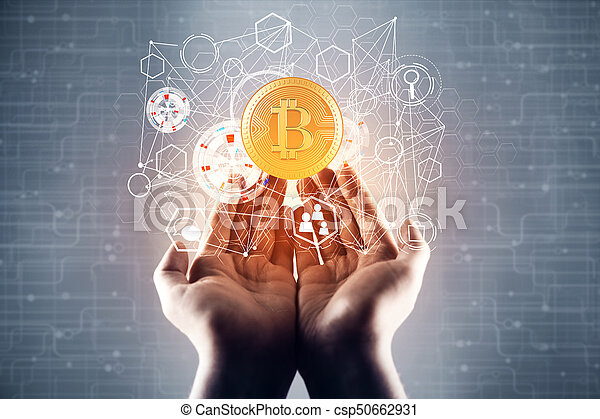 cryptocurrency, concept - csp50662931