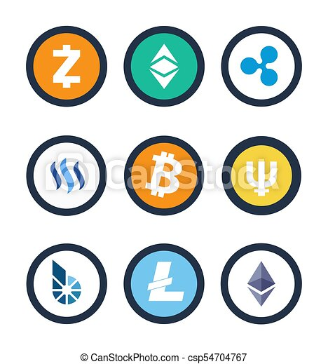 Images of different cryptocurrency