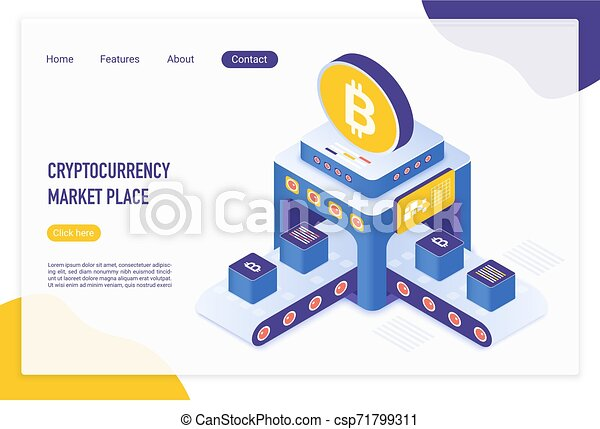 Accept cryptocurrency payments landing page