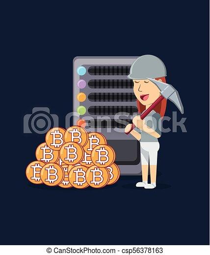 Cryptocurrency mining funny cartoon