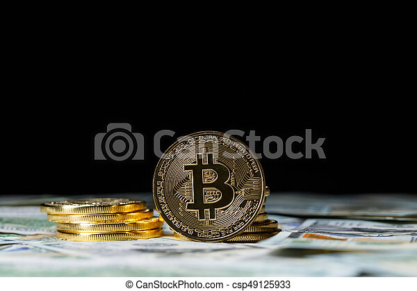 cryptocurrency, pièces., bitcoin, physique - csp49125933