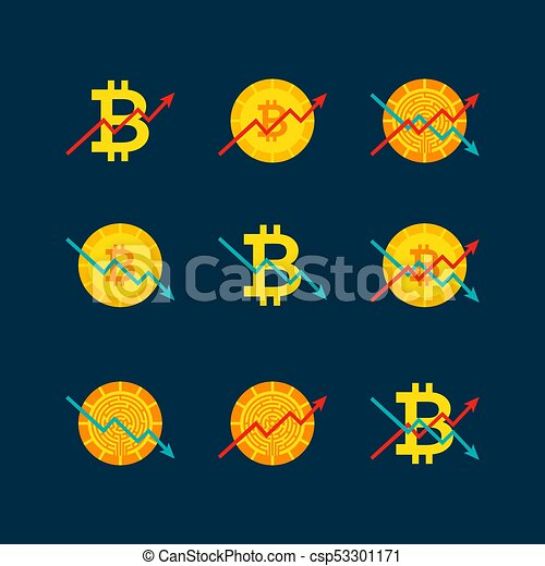 Cryptocurrency Up Down Graph - csp53301171