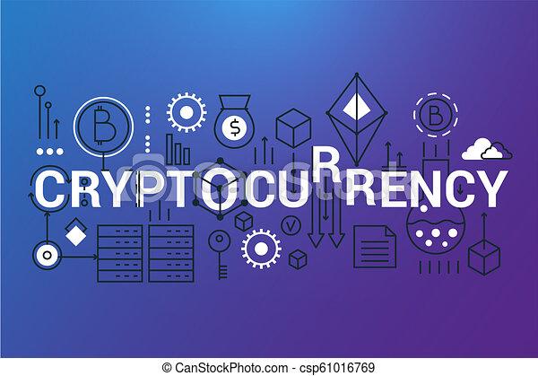 Digital cryptocurrency ticker art