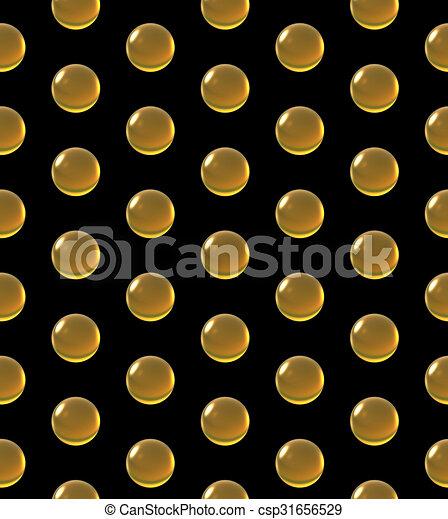 crystal ball dot pattern yellow