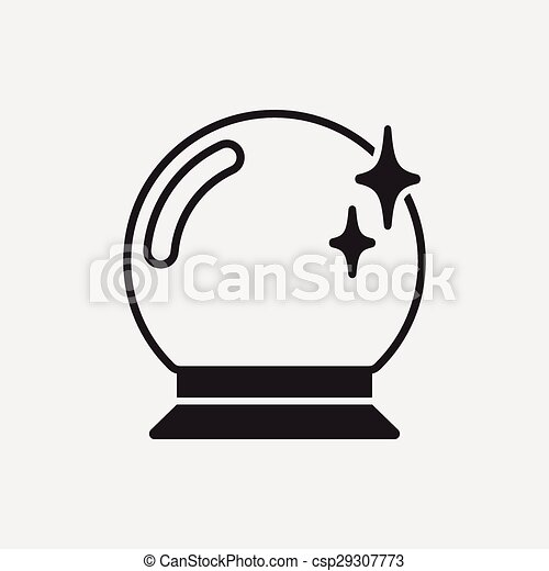 crystal ball icon rh canstockphoto com crystal ball clipart black and white crystal ball cartoon clipart