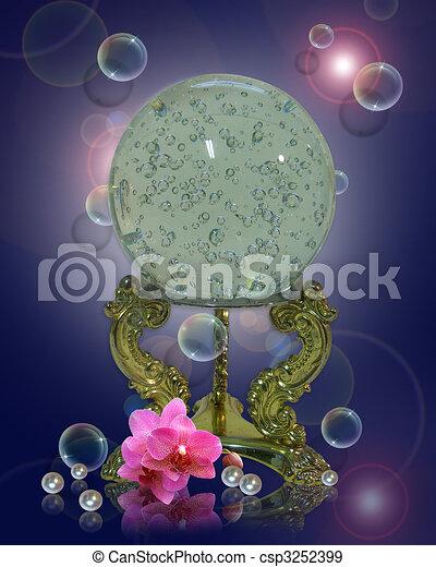 Crystal gazing ball magical - csp3252399