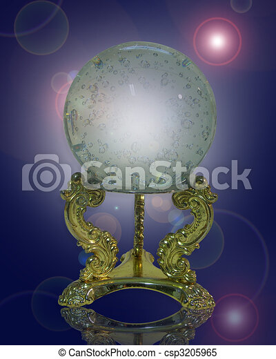Crystal gazing ball magical - csp3205965