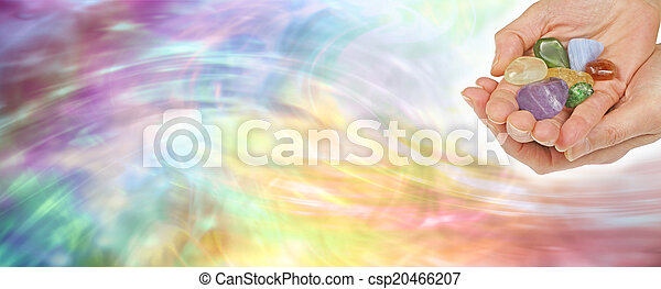 Crystal healing website banner - csp20466207