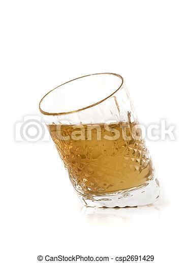 Crystal jigger with cognac - csp2691429