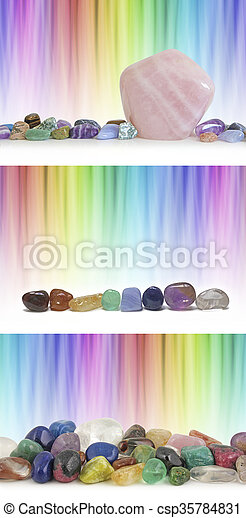 Crystal therapy rainbow backgrounds - csp35784831