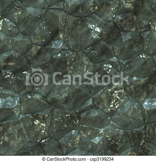 Crystalline mineral facets texture - csp3199234
