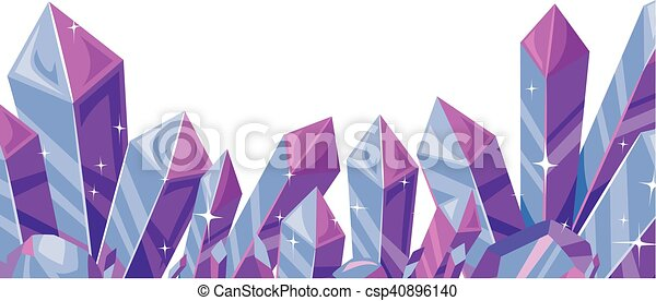 crystals border border illustration featuring a cluster Snowflake Border Clip Art Snow Flake Border