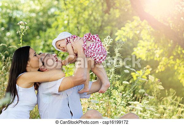 család, boldog - csp16199172