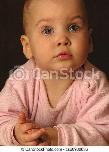 csecsemő, closeup - csp0900836