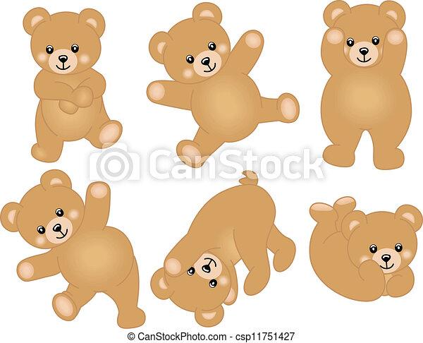 csecsemő, csinos, hord, teddy-mackó - csp11751427