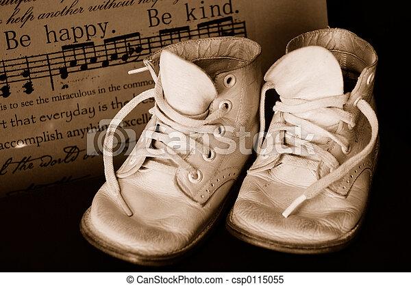 csecsemő, szüret, tintahal, cipők - csp0115055